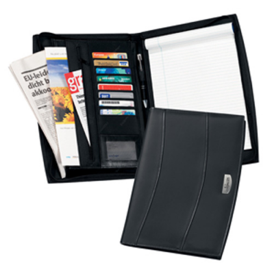 Image of Solutions A4 Zipped Leather Conference Folder
