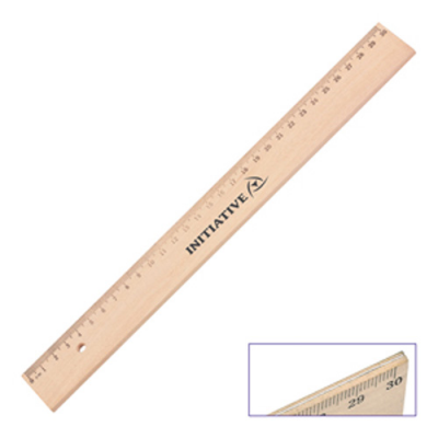 Image of Wooden 30cm Ruler
