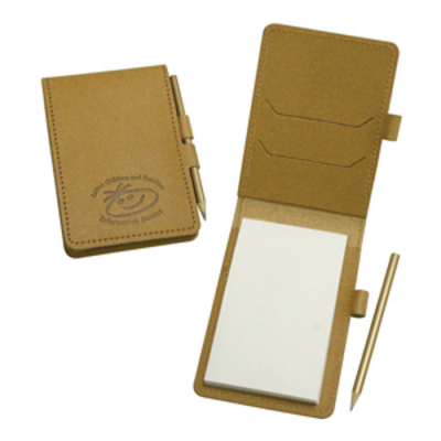 Image of Eco Natural Leather Mini Note Pad