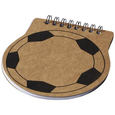 Image of Score football shaped notebook