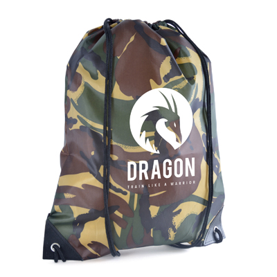 Image of Camo Drawstring Bag