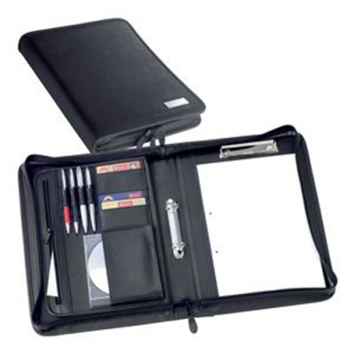 Image of Jet A4 Zipped 2 Ring Conference Binder