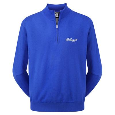 Image of FJ (Footjoy) Gents Lambswool Half Zip Pullover (Unlined)