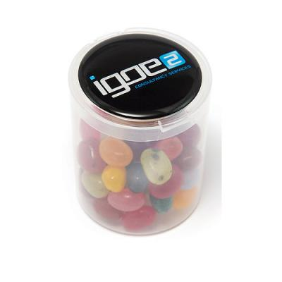 Image of Jelly Beans Loose In A Clear Tub