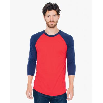 Image of Three Quarter Sleeve Raglan Tee Shirt