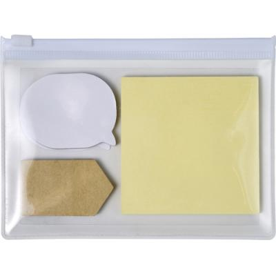 Image of Pouch with 3 types of sticky notes