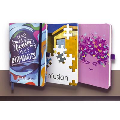 Image of Infusion A5 Soft Touch Process Printed or Pantone Matched Notebook