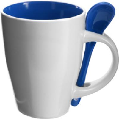 Image of Coffee mug with spoon