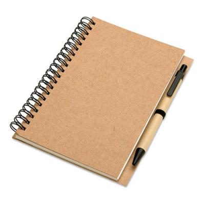 Image of Recycled notebook and ball pen