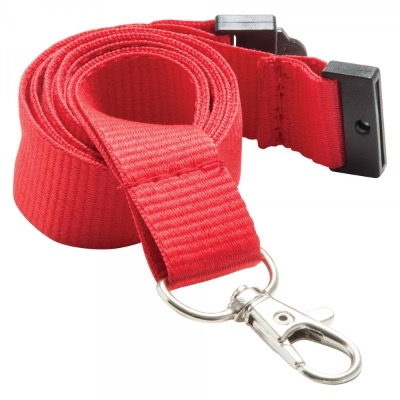 Image of 20mm Flat Polyester Lanyard-Plain Stock/UK printed