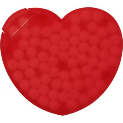 Image of Heart shaped plastic mint card