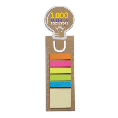 Image of Bookmark with memo stickers