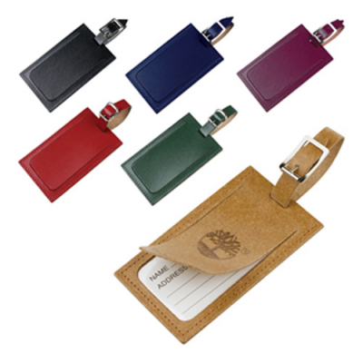 Image of Eco Natural Leather Luggage Tag