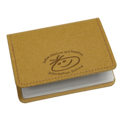 Image of Eco Natural Leather Business Card Wallet