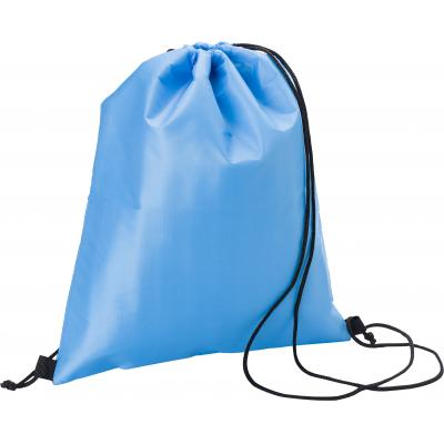 Image of Polyester (210D) cooler bag with double drawstring closing, lined with foil.