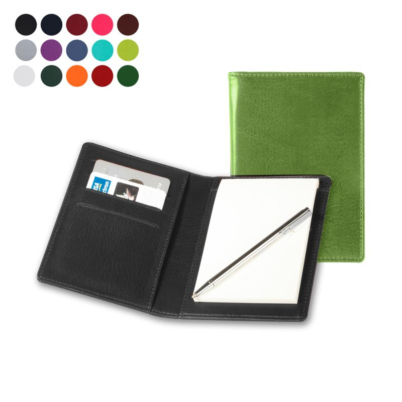 Image of Pocket Jotter with Credit Card Pockets and Pen
