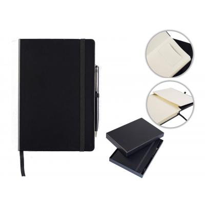 Image of Houghton A5 Casebound Notebook with Pen & Box
