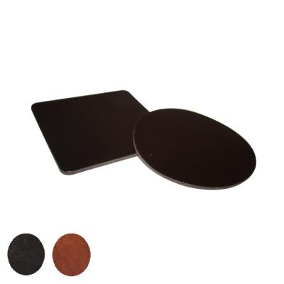Image of Simple Round Leather Coaster