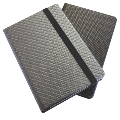 Image of Carbon Fibre Textured A5 Casebound Notebook.