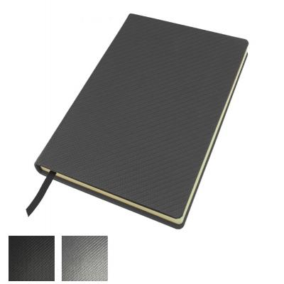 Image of A5 Casebound Notebook in Carbon Fibre Texture