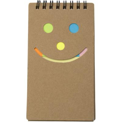 Image of Notebook with sticky notes.