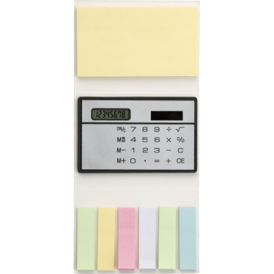 Image of Booklet with sticky notes and calculator