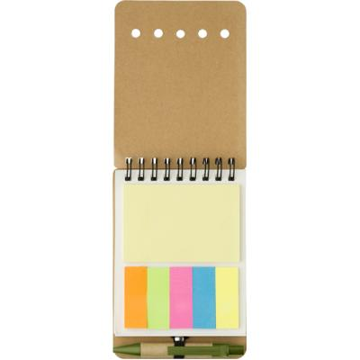 Image of Wire bound notebook with sticky notes