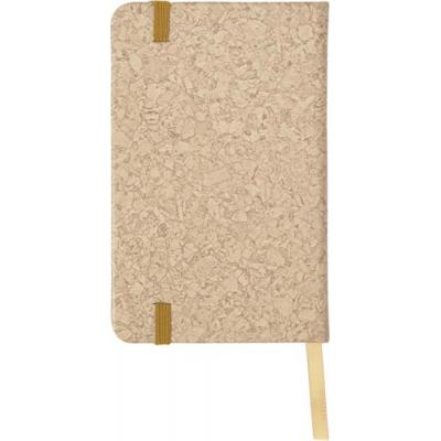 Image of PU covered notebook with cork print (A6)