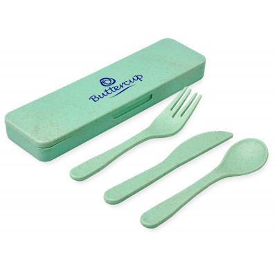Image of Bamboo Fibre Cutlery Set