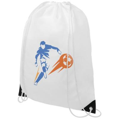 Image of Oriole drawstring backpack with coloured corners