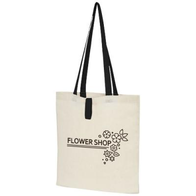 Image of Nevada 100 g/m² cotton foldable tote bag