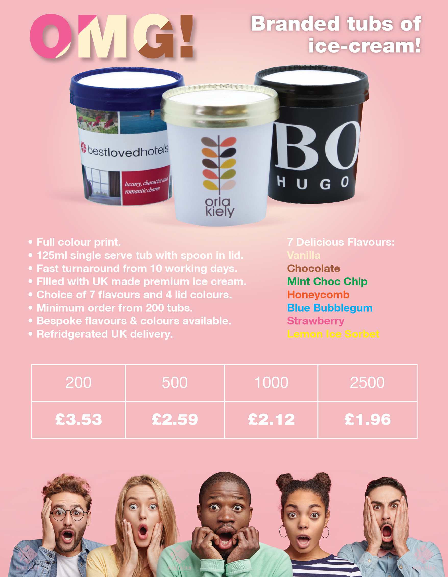 Promotional Branded Ice Cream Tubs