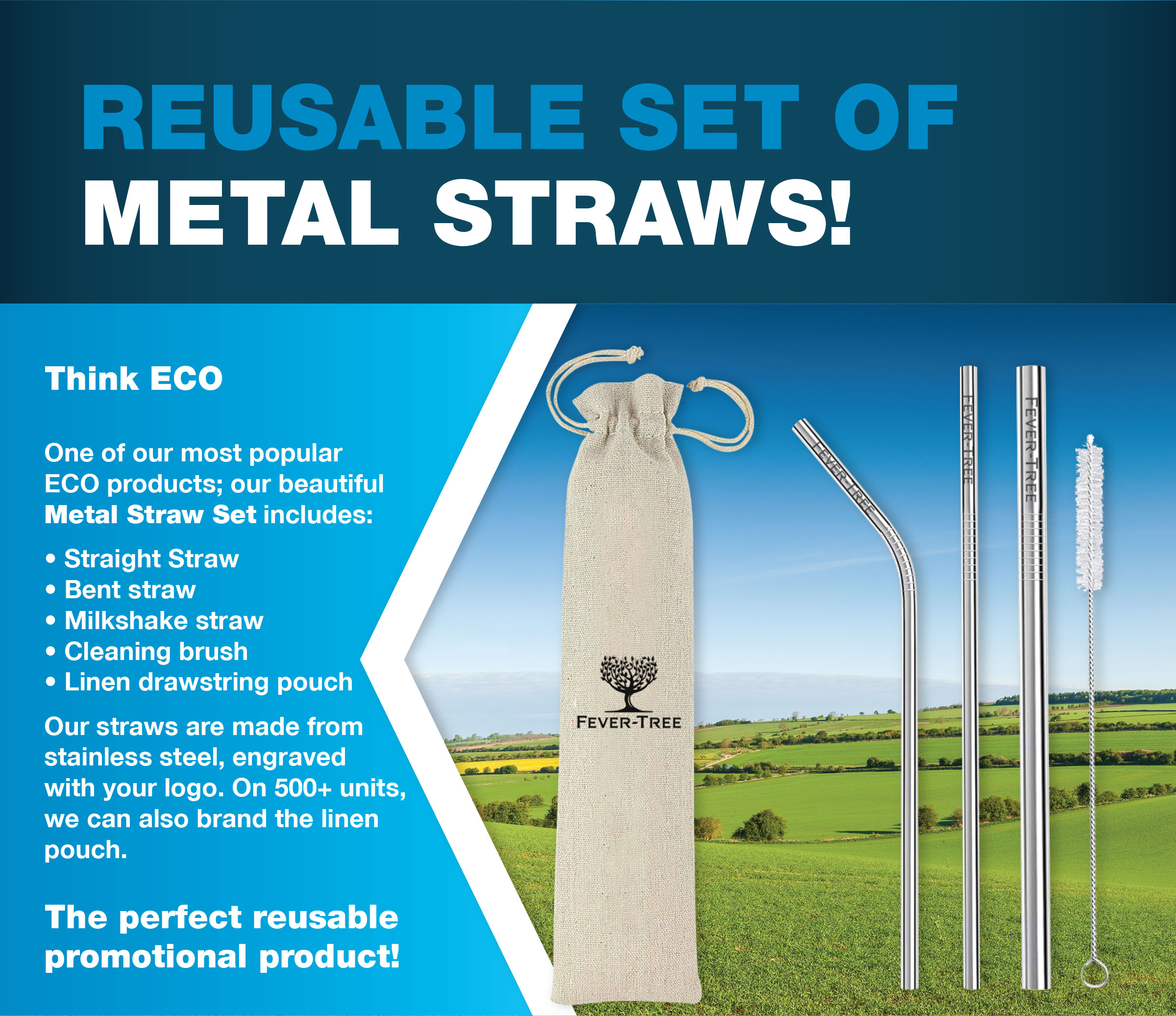 Promotional Metal Straws